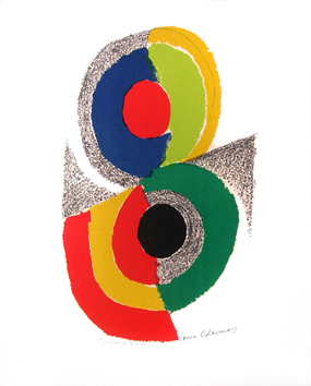 Original signed lithograph de  : Rythms and colors I