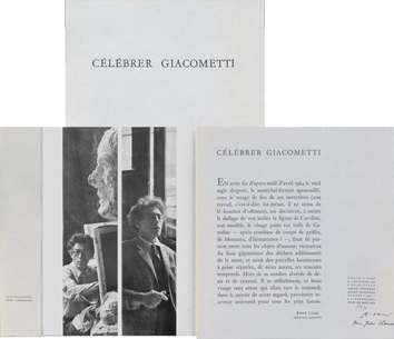 Document original de  : Célébrer Giacometti