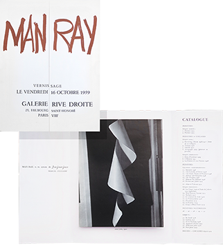 Exhibition catalogue de  : Man Ray, Gallery Rive Droite