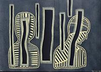 Signierte originale Kaltnadelradierung de  : Cristalli d'ombra