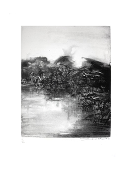 Signed etching aquatint de  : Without title 167