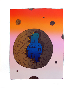 Original signed screenprint de  : The inner space