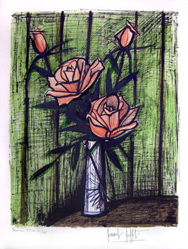 Original signed lithograph de  : Roses (second state)