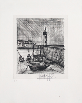 Original signed etching de  : The lighthouse