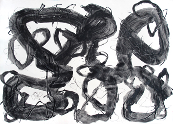 Signed drawing in ink de Serée Gerard : Composition without title III
