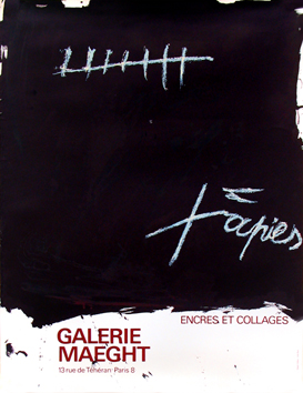 Originales Plakat de Tàpies Antoni : Encres et collages