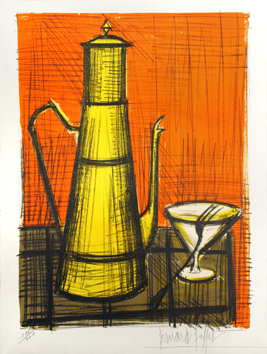 Original signed lithograph de  : The coffeepot