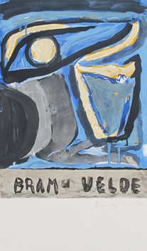 Original signed lithograph de Van Velde Bram : Composition LII (52)