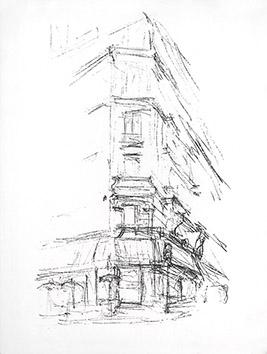 Lithographie originale de  : Paris sans fin, planche 95