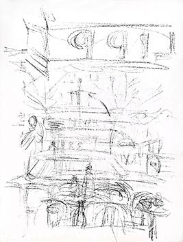 Lithographie originale de  : Paris sans fin, planche 59