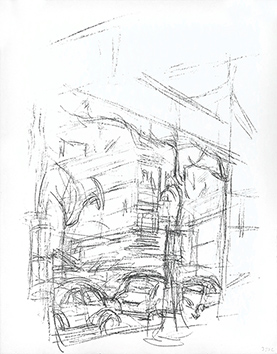 Lithographie originale de  : Paris sans fin, planche 57