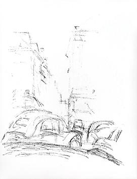 Lithographie originale de  : Paris sans fin, planche 73