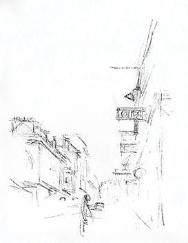 Lithographie originale de  : Paris sans fin, planche 94