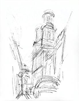 Lithographie originale de  : Paris sans fin, planche 68