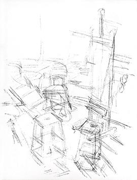 Lithographie originale de  : Paris sans fin, planche 104