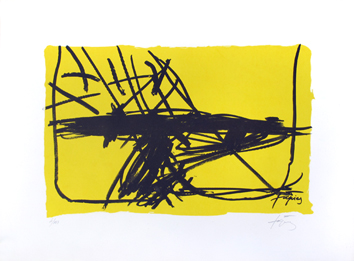 Original signed lithograph de  : Without title VIII