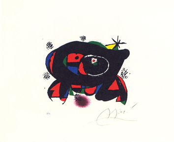Original signed lithograph de  : The frog