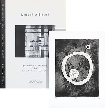 Libro con incisione de Allirand Renaud : Gravures-Etchings 40
