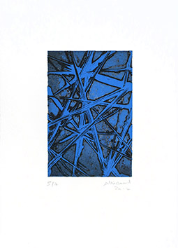Original signed etching de Allirand Renaud : Composition CXXXVIII (138)