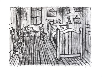 Original drypoint de  : Van Gogh's bedroom