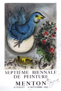 Signed poster de  : The blue bird