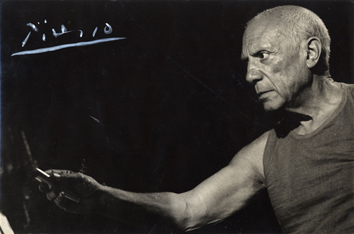 Original signed photograph de  : The artist who draws, André Villers