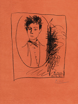Original signed lithograph de  : Portrait of Arthur Rimbaud