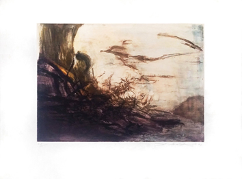 Signed etching aquatint de  : Without title 171