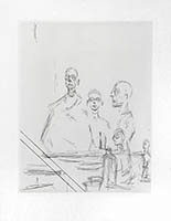 Gravure originale de  : Sculptures dans l'atelier V