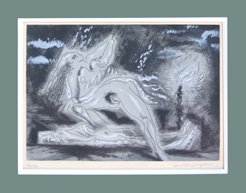 Original signed aquatint de  : Le mort 1b