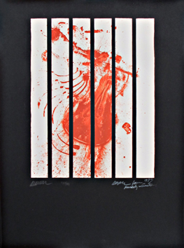 Signierte Originalserigraphie de Arman : Für Amnesty International