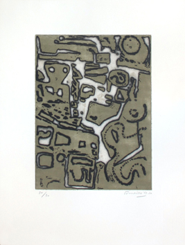 Original signed etching de  : Désagrégation d'une figure II
