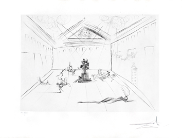 Original signed drypoint de  : Plaza Major