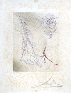 Original signed drypoint de  : Specter and the Rose