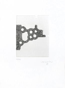 Gravure originale signée de  : L'écriture ou la vie, planche III