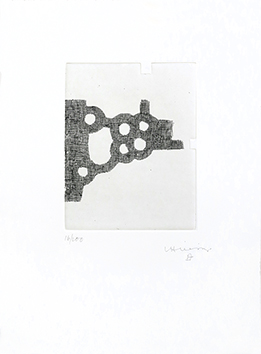 Signierte originale Radierung de  : L'écriture ou la vie, Blatt III