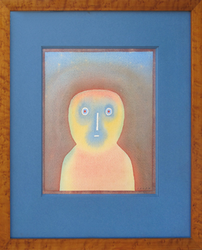 Original signed watercolour de  : Self-portrait