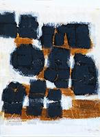 Original signed gouache de  : Untitled composition