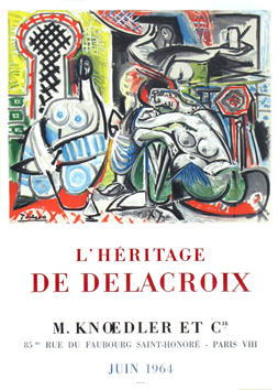 Lithograph poster de  : The heritage of Delacroix