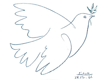 Lithograph de  : Dove of peace