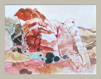 Original signed watercolour de  : Navaho Mountain IV
