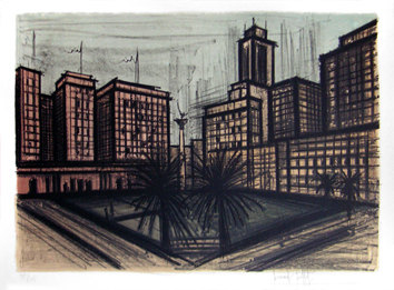 Original signed lithograph de  : San Francisco, Plate 4