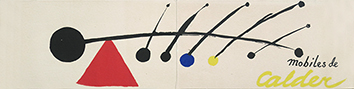 Exhibition invitation card de  : Mobiles de Calder