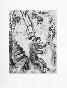 Original etching aquatint de  : Et sur la terre . . . , plate II