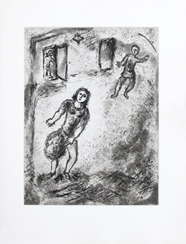 Original etching aquatint de  : Et sur la terre . . . , plate V
