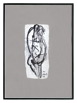Signed drawing in ink de  : Nude