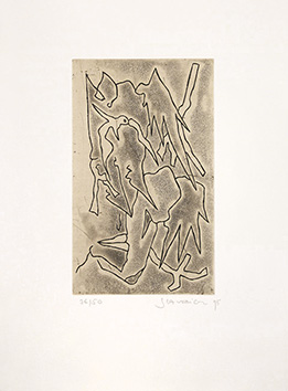 Signed etching aquatint de Scanreigh Jean-Marc : Derniers Songes avant l'éveil I