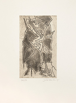 Signed etching aquatint de  : Derniers Songes avant l'éveil II
