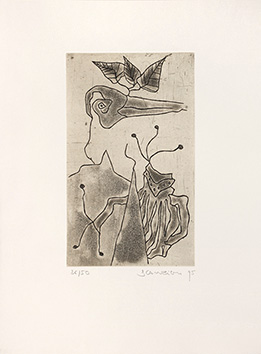 Signed etching aquatint de  : Derniers Songes avant l'éveil III