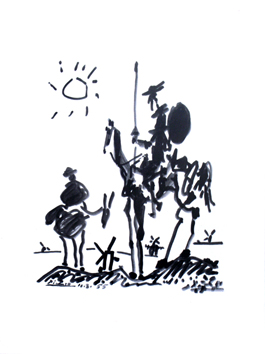 Print in reproduction de  : Don Quichotte
